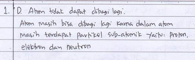Pembahasan Soal No. 1 Struktur Atom