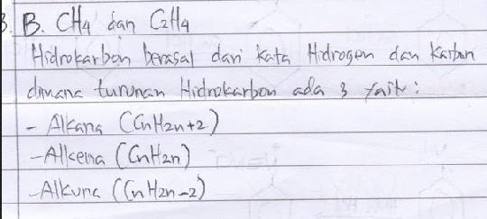 Pasangan zat berikut yang merupakan golongan senyawa hidrokarbon adalah… A. C2H6 dan C12H22O11 B. CH4 dan C2H4 C. C2H4 dan C6H12O6 D. CO2 dan H2O E. CH4 dan CO2