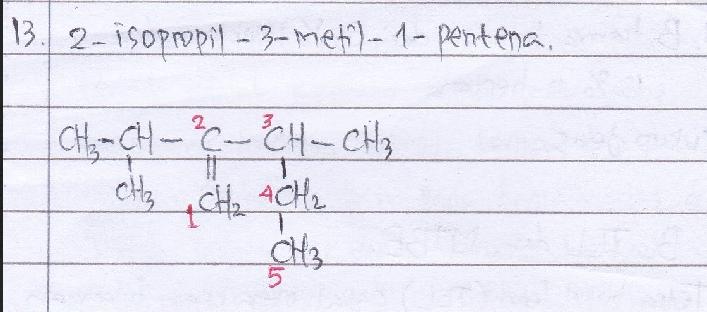 Perhatikan senyawa berikut. Nama IUPAC untuk senyawa tersebut adalah… A. 3-etil-1,1-dimetil-2-butena B. 2-isopropil-3-etil-1-buten C. 2-isopropil-3-metil-1-pentena D. 3-etil-2-isopropil-1-butena E. 1,1,3-trimetil-2-butena